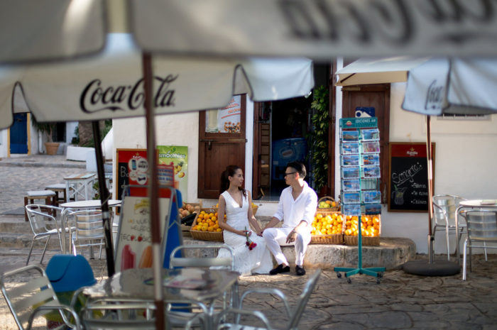 Couple in Love in Ibiza Old Town - Destination Photographer