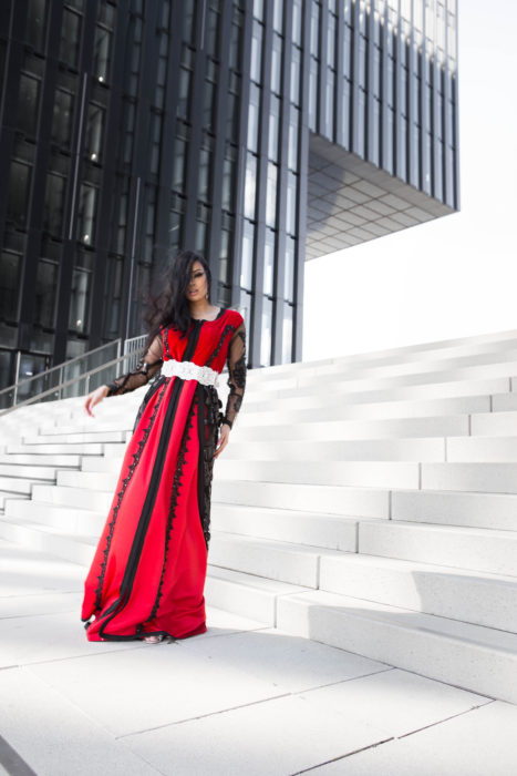 Red Marokkan Fashion Duesseldorf High Quality Glamour Dress Photographer Vogue